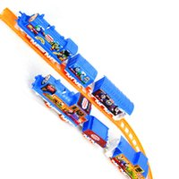 Wholesale New Thomas Electric Train Track Risky Rail Bridge Drop Play Set Toy For Kids Children s Xmas gifts Hot