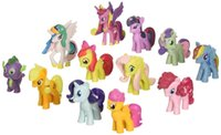 Wholesale My Little Pony Loose Action Figures Toy CM Pony Littlest Figure Xmas Gift For Kids Set K53L