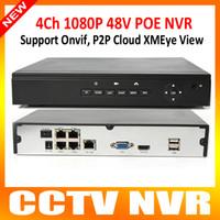 Nouveau Sécurité CCTV 4CH NVR ONVIF HD 1080P / 720P Réseau 4Ch POE NVR Recorder for 4Pcs 1080P Ou 720P Caméra IP P2P XMeye Voir