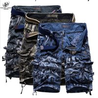 baggy jeans shorts - New Arrival Men Summer Military Cargo Shorts Bermuda Masculina Jeans Male Fashion Outdoor Baggy Cargo Male Shorts