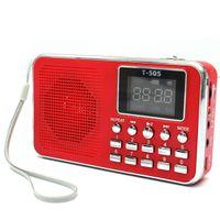 Wholesale Excellent Quality Universal Home Stereo Speaker Mini Portable Radio TF Card Speaker FM Radio Digital Speaker with LED Screen