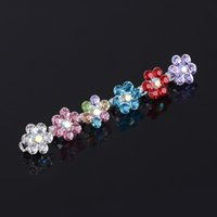 american dishes - 10Pcs Crystal Girls Headwear Bride Dish Hair Accessories Hair Decoration Plum Flower Clip Doug buckle Hair Clip