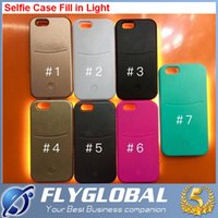 battery led case - 2016 NEW Fill in light Selfie Case cover with LED light shiny protective shell shockproof back cover for iPhone s s plus iphone cases