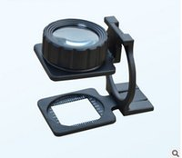 Wholesale Drop shipping x Warp weft density Mirror check cloth mirror Fold magnifier magnifying glass Full Metal Dual lens Look outlets Textile