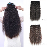 Wholesale Kinky deep curly clip in on hair extension cm quot g hairpieces for woman brazilian hair pieces synthetic hair extensions