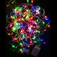 Wholesale 110V V Colorful Christmas Led Lighting m leds for Holiday Party Wedding Decoration Blue Green White Red RGB Yellow Purple Pink