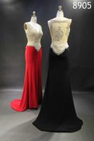 name brand evening dress - the spring summer evening dress party club wear modern elastic silk like stain beading crystal sweep train Brand name DENADI