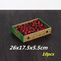 Wholesale x17 x5 cm Small fruit tray fruit gift boxes can place display boxes of strawberries kiwi fruit and other fresh fruits