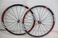 Wholesale ffwd wheel carbon fiber bike wheels alloy carbon road wheels mm c rims carbon wheels aluminum white red decal with ceramic bearing hubs
