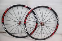 Wholesale ffwd wheel carbon fiber bike wheels alloy carbon road wheels mm c rims carbon wheels aluminum white red decal with ceramic bearing hubs