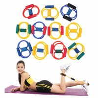 Wholesale 1Pcs Resistance Type Muscle Chest Expander Rope Workout Fitness Exercise Yoga Tube Sports Pulling Exerciser
