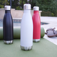 Wholesale Cola Shaped Insulated Double Wall Vacuum Stainless Steel Water Bottle Creative Thermos bottle Vaccum Insulated For Cold or Hot Drinks
