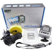 Wholesale Professional LUCKY Sonar Meter Fish Finder Sea Contour Alarm AUTO MANUAL Range Water Temperature Degree C F