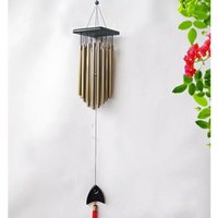 Wholesale Tubes Woodstock Wind Chime Home Garden Noisemaker Windbells Wooden Toys