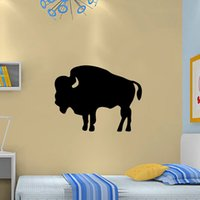 art wildlife - Strong Buffalo Bison Wildlife Art Decor Vinyl Wall Stickers For Home