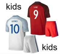 Wholesale New Product Uniforms Kids Kit European Cup England KANE VARDY Rooney STERLING Soccer Jersey AWAY Sleeve Jerseys