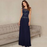 Wholesale PF442 Elegant Beaded Chiffon Formal Dress Chic Illusion Back Cap Sleeve Evening Dresses With Sequined Vestido de festa