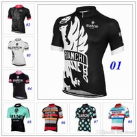 bianchi bike sizing - 9 Style Bianchi Cycling Jerseys Top Short Sleeves Cycling Tops Body Fit Compressed Bike Wear Size XS XL Summer Style For Men