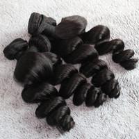 Wholesale A virgin human hair weaves Brazilian hair Peruvian Indian Mongolian hair extensions loose wave hair bundles