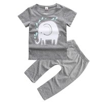 america elephant - 2016 baby boy clothing piece set cotton summer cute elephant America Infants M M M T T T Toddler knitting clothes drop shhipping