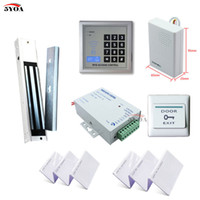 Wholesale RFID Access Control System Kit Wooden Door Set Eletric Magnetic Lock ID Card Keytab Power Supplier Exit Button DoorBell