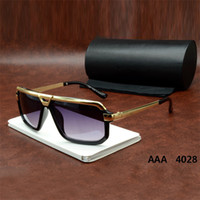 Cheap Fashion Sunglasses with Golden Frame UV 400 Protection Retro Style for Women and Men with Original Box sunglasses-cazal4028