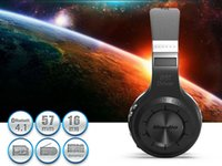 Wholesale blue string H Best Bluetooth Head Phones Wireless Stereo Headset Portable Headphones Noise Canceling Built in Mic Micro SD FM Radio