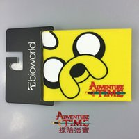 achat en gros de aventure bourse de temps-Adventure Time Portefeuilles Cartoon Anime Portefeuille Portefeuille Courte Sacs PVC Sacs à main Fashion Casual 11.5 * 9 cm