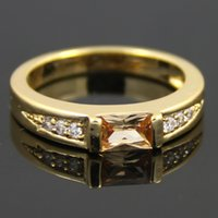 asian material - High Quality New Arrival K Golden plated AAA Zircon Copper Material Rings For Lady Women Wedding Party Gift Lovers WesternFashion Jewelry