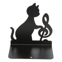 best cat supplies - Lovely Best Promotion Piece Music Themed Black Cat Playing Violin Two Loaded Metal Book Bookend Holder Office School Supply