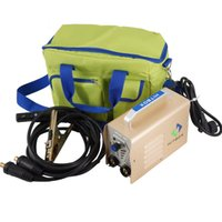 arc welding electrodes - Hotsaling high quality MINI MMA ARC200 welding machine with fashion portable handbag earth clamp and electrode holder freeshipping