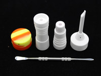 Wholesale 14mm mm Male and Female Ceramic Nail Glass Bong Tool Set with Carb Cap Dabber Tool Slicone Jar Dab Container VS Titanium Nail