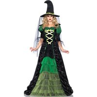 adults movies - Featuring A Long Black and Green Ruffle Ruched Sexy Fairy Adult Halloween Costume Woman Ladies Movies Witch Fancy Dress L15103