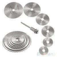 Wholesale 7Pcs HSS Rotary Tools Circular Saw Blades Cutting Discs Mandrel Cutoff Cutter Power tools multitool ON7 SS9