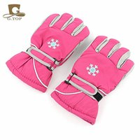 Wholesale 2016 high kids winter professional ski mountain gloves girls boys waterproof skateing gloves Christmas gift snow gloves