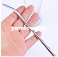 Wholesale 304 Metal Drinking Straw Stainless Steel Straw ECO Friendly Tubularis Bar Drinks Straw with cm