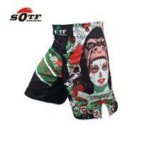 Wholesale SOFT green the Beast mma combat training boxing breathable sports shorts Tiger muay thai boxing shorts pretorian boxeo mma pants