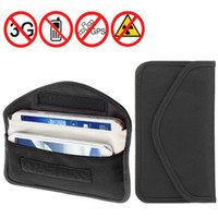 Wholesale RF Anti Radiation Shield Case Bag Pouch for Large size Cellphone Mobile phone signal shielding bag