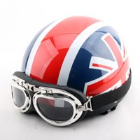 abs union - Fashion British Union Jack British motorcycle helmet electric bicycle helmets Summer half face Harley models helmet of ABS