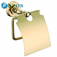Wholesale AZOS Wall Mounted Toilet Paper Holders Bathroom Accessories Shower Hardware Components Gold Color GJKE2805 A