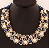 bib jewlery - SPSPX5702 Fashion gold metal tassel Chokers necklaces women chain big bib chunky necklaces Collars necklace women jewlery