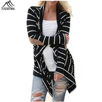 Wholesale summer cardigan new long sleeve sweater mujer striped patchwork knitted cardigan feminino casual poncho women plus size