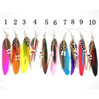 alex long - HOT Alex and Ani Vintage Feather Drop Earrings For Women Bohemia Style Long Earring Lady s Ethnic Fashion Jewelry
