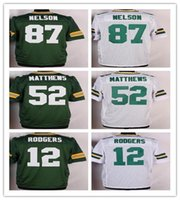 Wholesale 2016 Green football jerseys Rodgers Matthews Cobb White Jerseys Cheap discount football jerseys Custom Limited Embroidery Logos