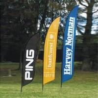 Wholesale 70x280cm Cross Feet Flags Single Side Flags Outdoor Advertising Flags Beach Banner Feather Flag with Cross Feet Water Bag POS