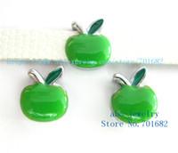 apple dog collar - 5pcs mm Christmas green apple wholesales price Internal Dia mm fit mm wristband belt keychain dog collar bracelet SL447