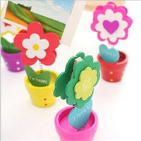 Wholesale Idyllic sunflowers color card holder kawaii cartoon wooden note holder cute multifunction desk photo picture memo folder