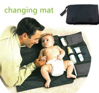 baby changer - baby infant Portable Diaper Changer pad Waterproof foldable pad wipes clean easily Baby Pad Diaper Nappy Changing strollerEC1150
