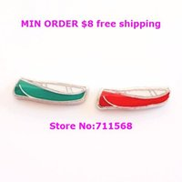 Wholesale Canoe Floating Charm Boat Locket Charm For Magnetic Floating Glass Locket
