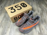 bags sneakers - NEW kanye west men s shoes SPLY Boost V2 Season Orang Stripe running shoes boost Sneakers Keychain Socks Bag Receipt Boxes